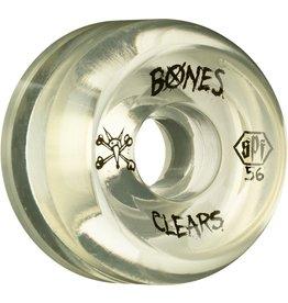 Skate One BONES WHEELS SPF Clear Natural 56mm 4pk