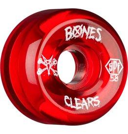 Skate One BONES WHEELS SPF Clear Red 58mm 4pk