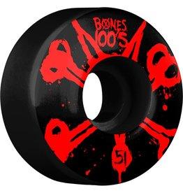 Skate One BONES WHEELS 100's Black 51mm 4pk