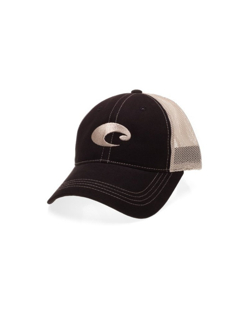 COSTA Costa Del Mar Mesh Hat- Black/Stone