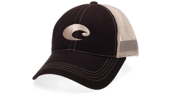 COSTA Costa Del Mar Mesh Hat- Black/Stone