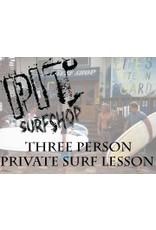 Lessons Private Lesson 3 Person