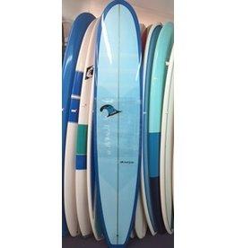 "Chris Ruddy Chris Ruddy 9'6"" Shovel-Tail Drifter Blue Tint Longboard"