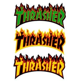 Skate Thrasher Flame Logo Sticker Large