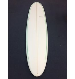 Starr Surfboards Starr 7'6 Funshape Round Tail Green Pin Stripes Surfboard