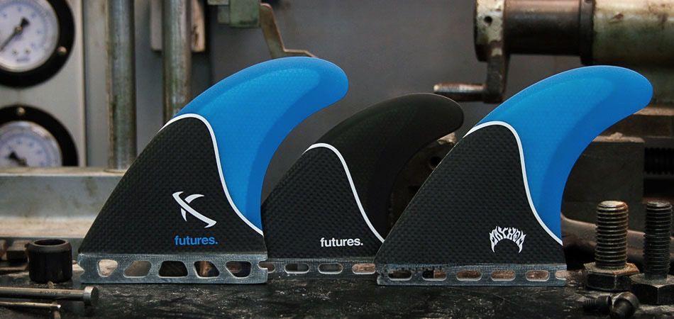 Futures Fins Lost Large 5-Fin Blue Smoke Carbon Surfboard Fins Matt Biolos