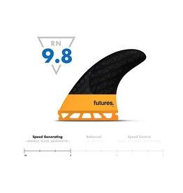 Futures Fins EA Blackstix 3.0 Thruster Surfboard Fins Orange Medium