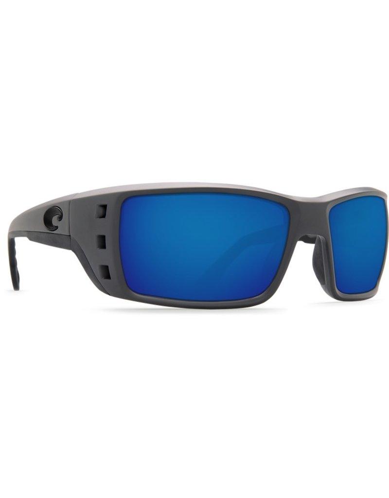 COSTA Costa Del Mar Permit Matte Gray Blue 580P Sunglasses