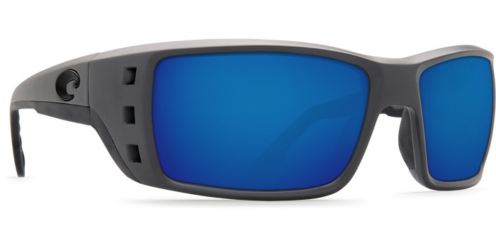COSTA Costa Del Mar Permit Matte Gray Blue 580P Sunglasses