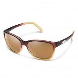 Suncloud Suncloud Dawson Brown Fade Frame Sienna Mirror Polarized Lens Sunglasses