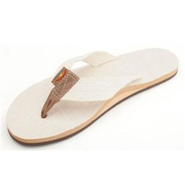 Rainbow Rainbow Single Layer Hemp Top and Strap with Arch Support Natural Mens Sandals