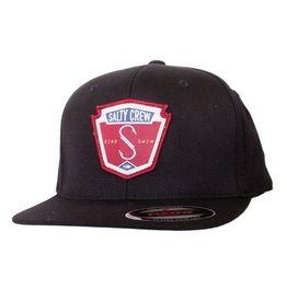 Salty Crew Salty Crew Flybridge Flexfit Hat Black Surfing