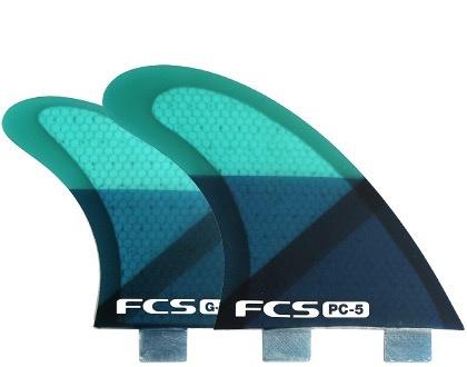 FCS FCS PC-5 Blue Slice Quad Medium 5 Surfboard Fins