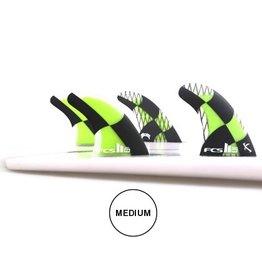 FCS FCS II MB PC Carbon Tri Quad Set Medium Acid Mayhem Matt Biolos Quads Surfboard Fins