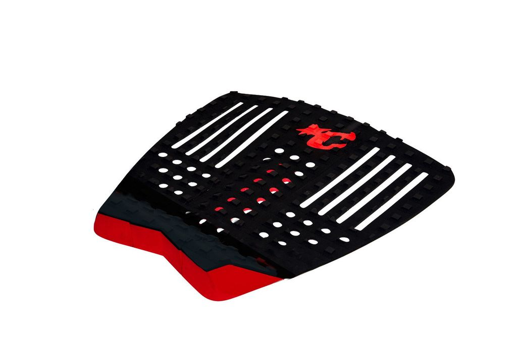 Creatures of Leaisure Creatures of Leisure Strike Black Red Surfboard Traction Pad