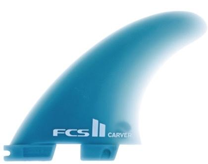 FCS FCS II Carver GF Tri Set Large Glass Flex Thruster Surfboard Fins New