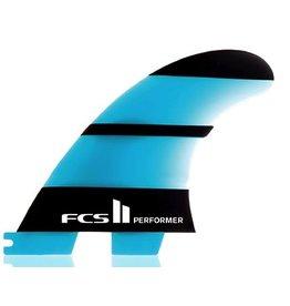 FCS FCS II Performer Neo Glass Tri Set Large Thruster Surfboard Fins