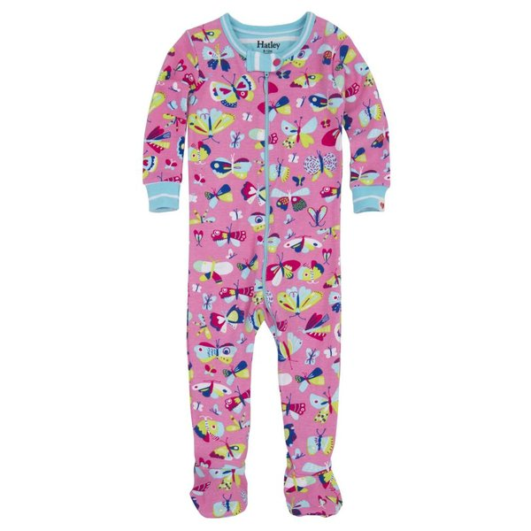 BUTTERFLIES FOOTED COVERALLS
