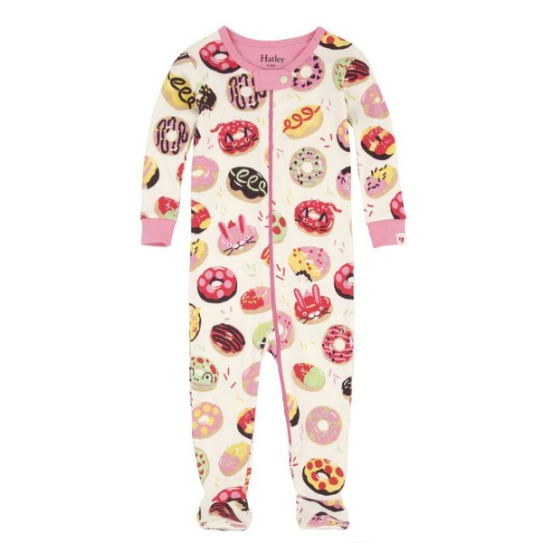 SWEET DONUTS FOOTED COVERALLS