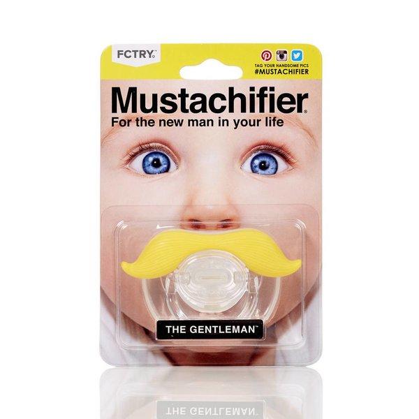 MUSTACHIFIER PACIFIER - YELLOW