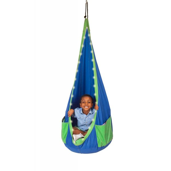 PLAYZONE-FIT ULTIMATE HANGING CHAIR - BLUE/GREEN