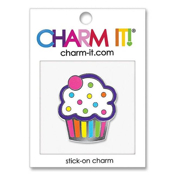 SPRINKLE CUPCAKE STICK ON CHARM