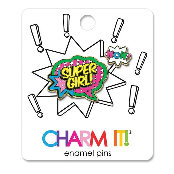 SUPER GIRL ENAMEL PIN