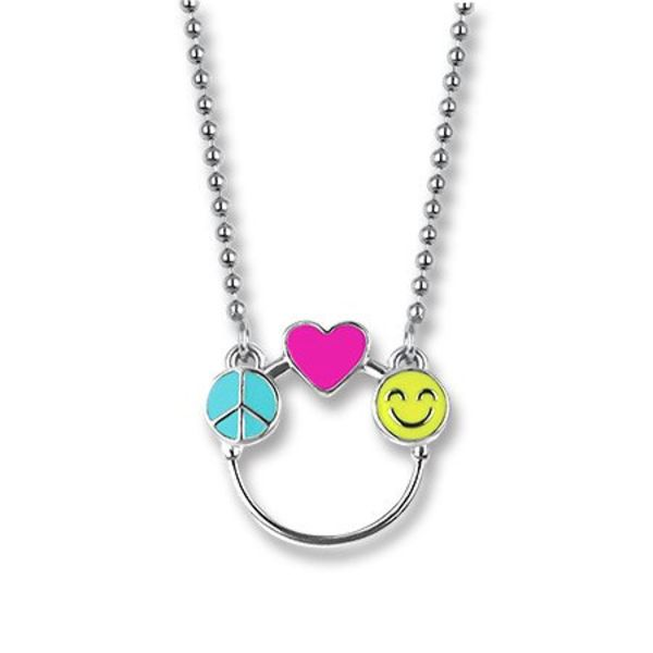 PEACE, LOVE & HAPPINESS CHARM CATCHER NECKLACE
