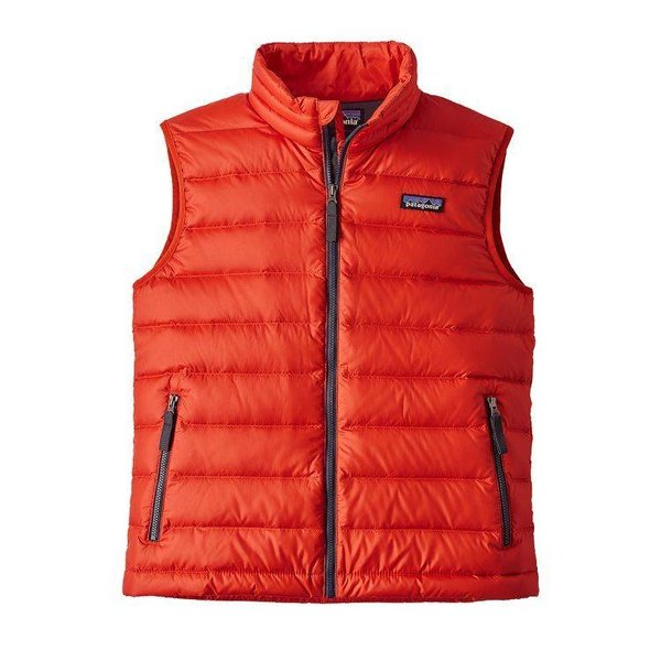 BLUE/ORANGE BOYS DOWN SWEATER VEST