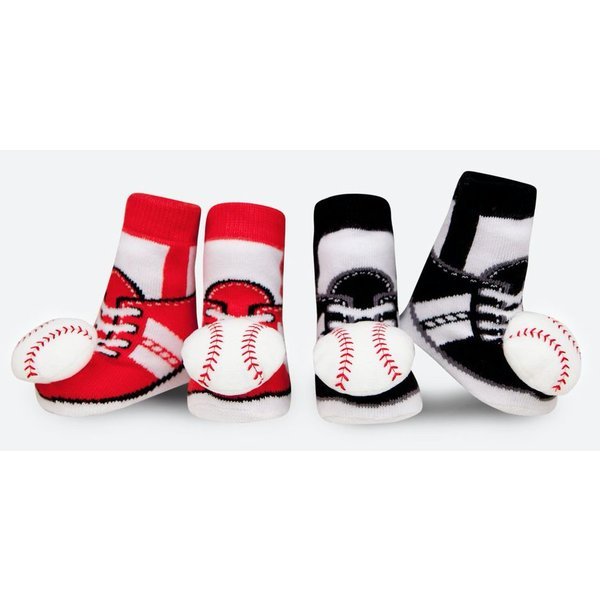 BASEBALL RATTLE SOCKS - 0-12 MONTHS