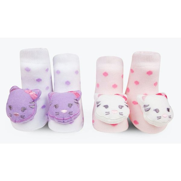 KITTY RATTLE SOCKS - 0-12 MONTHS