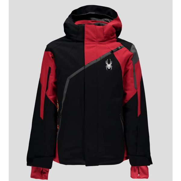 BOY'S CHALLENGER JACKET BLACK/RED/POLAR