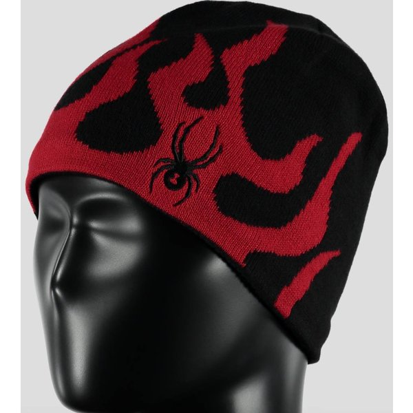 BOY'S FIRE HAT BLACK/RED