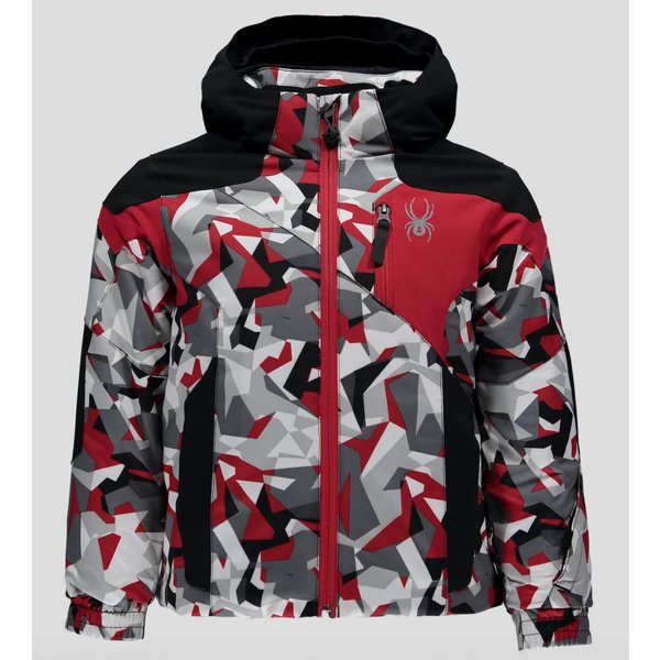 MINI CHAMBERS JACKET WHITE MINI CAMO PRINT/BLACK/RED