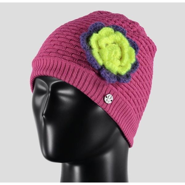 BITSY ROSIE HAT RASPBERRY/IRIS/BRYTE YELLOW