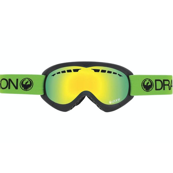 DXS GOGGLE - GREEN/SMOKE GOLD ION - SMALL ADULT