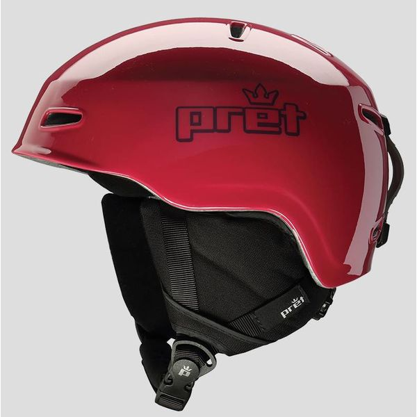 KIDS LID HELMET - CHERRY RED SMALL (51-55CM)