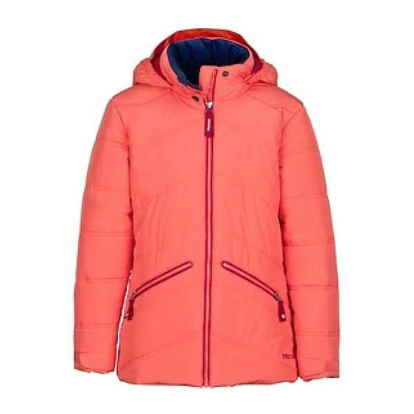 GIRL'S VAL D'SERE JACKET - LIVING CORAL
