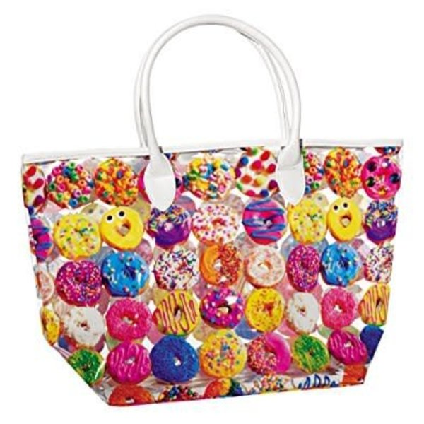 ASSORTED DONUTS CLEAR TOTE BAG