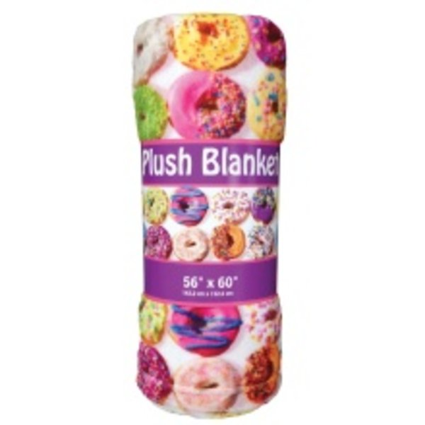 ASSORTED DONUTS PLUSH BLANKET