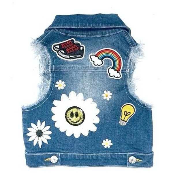 TODDLER DENIM VEST W/ PATCHES