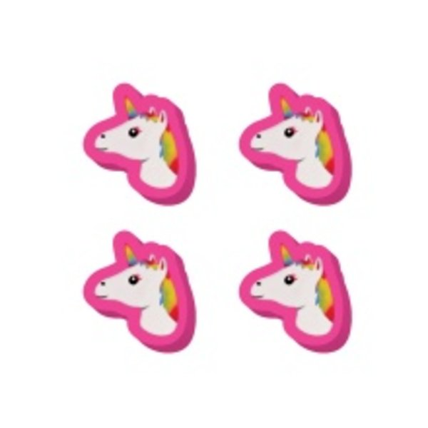 UNICORN EMOJIS MINI ERASER SET