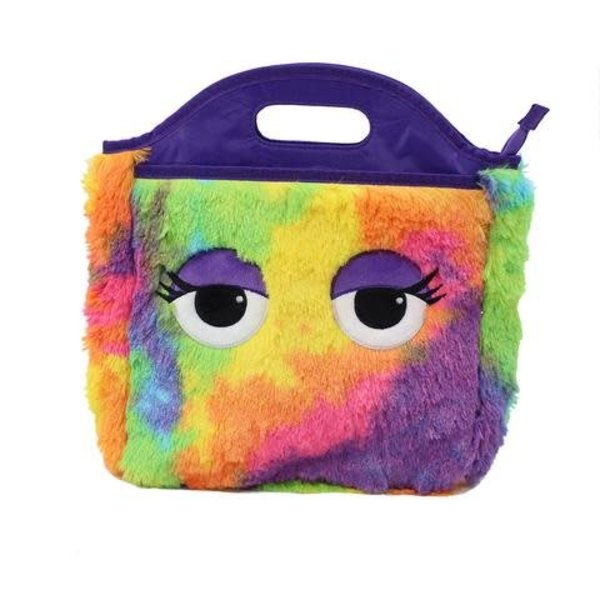 TIE DYE FURRY LUNCH TOTE