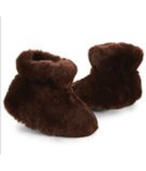 ACORN BROWN BEAR BABY SLIPPER