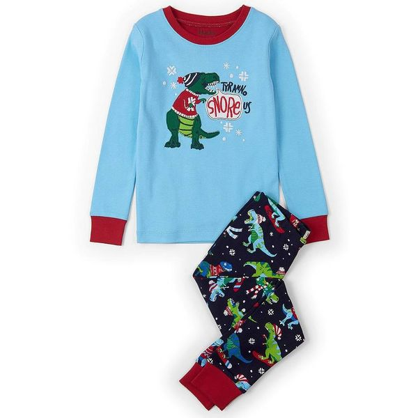WINTER SPORTS TREX APPLIQUE PJ SET