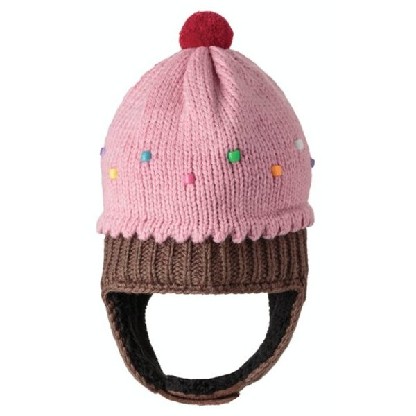 STRAWBERRY CUPCAKE HAT; 3-18M