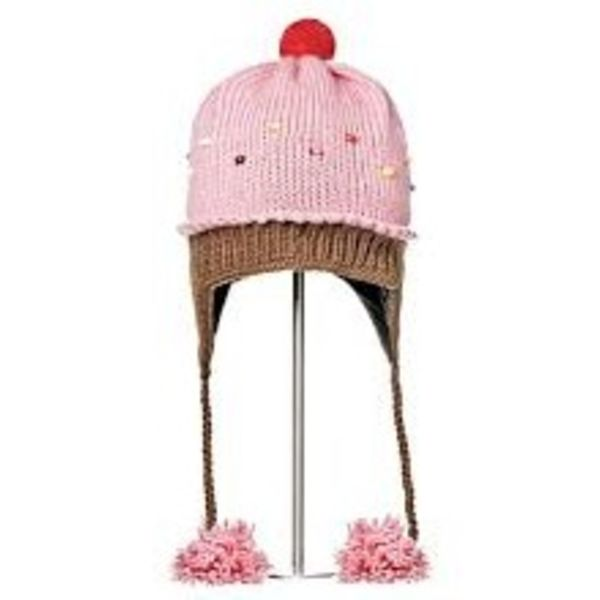 STRAWBERRY CUPCAKE HAT; 2-6 YEARS