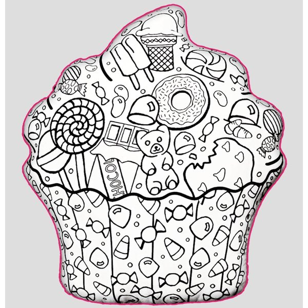 CUPCAKE COLOR ME PILLOW