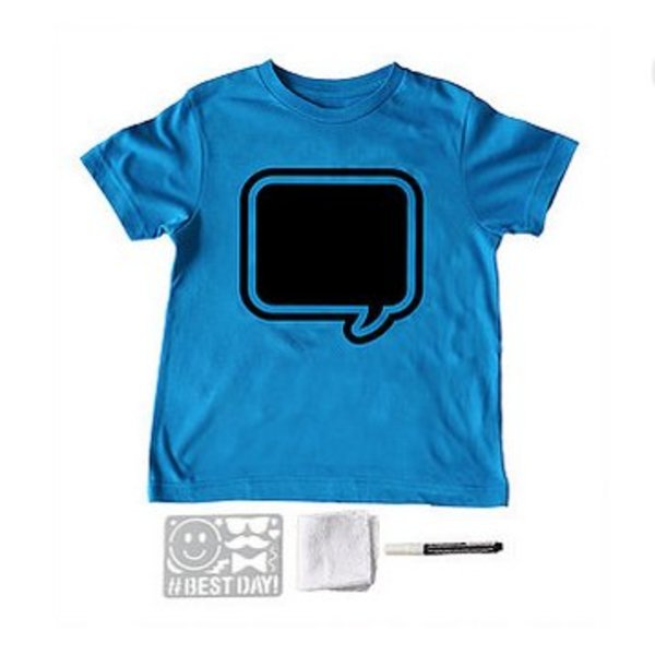 BRILLIANT BLUE SPEECH BUBBLE SHORT SLEEVE TEE