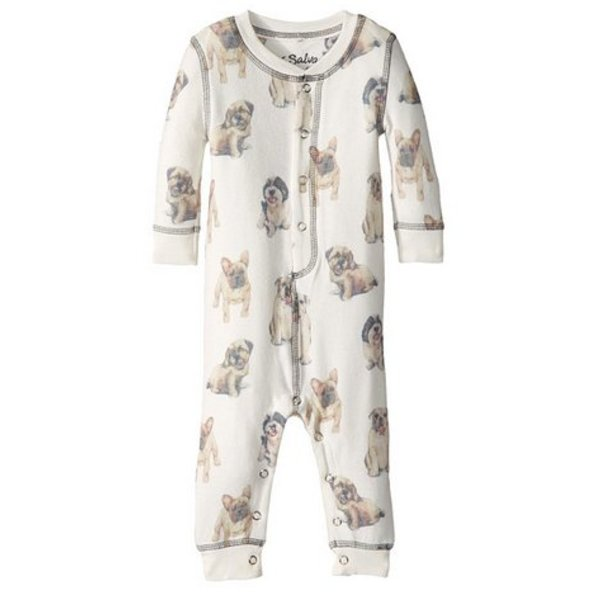 INFANT GIRL DOGS ON DISPLAY ROMPER